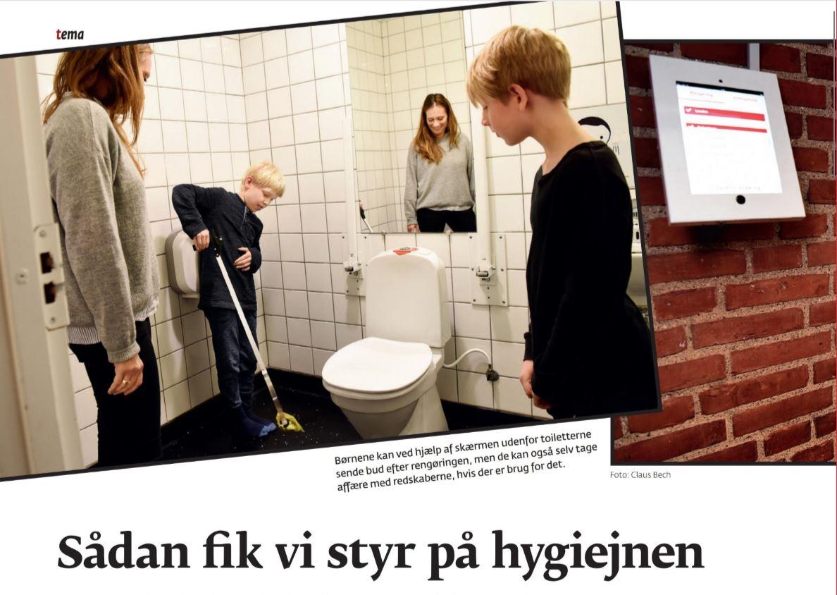 Skoletoiletter og hygiejne udviklet af Brave. Brave hjælper folkeskolen med skoletoiletter.