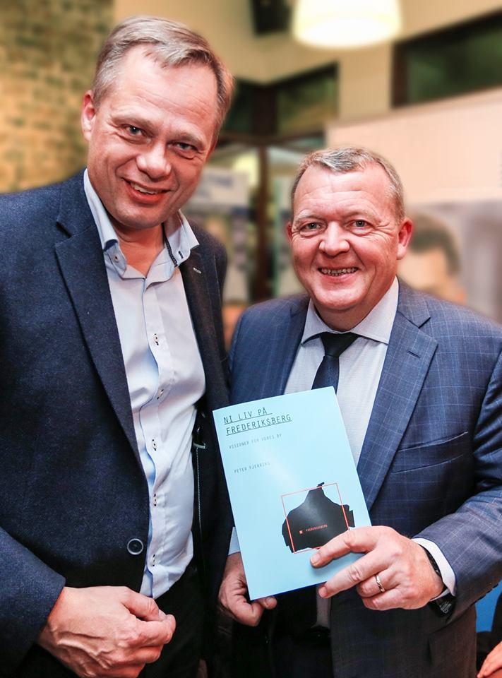Politisk kampagne udført af Brave. Her ses Statsminister Lars Lykke Rasmussen og Peter Fjerring