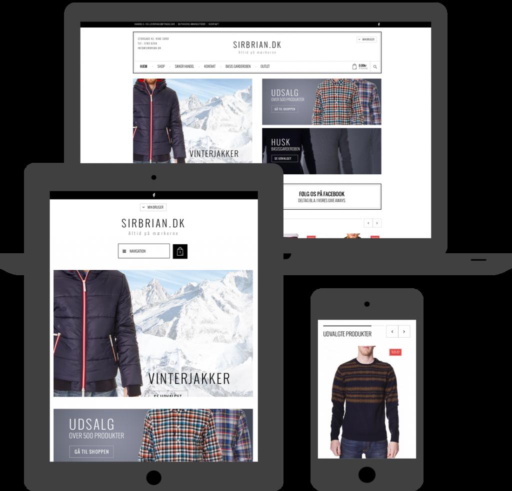 Webdesign til mobiltelefon og ipad udvikles hos Brave. WordPress. Hjemmeside. Webshop. Brave