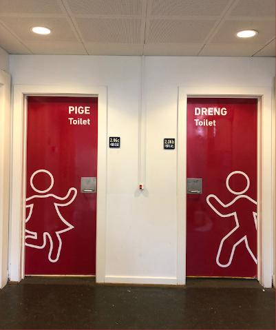 Skoletoiletter på folkeskole. Fremtidens skoletoiletter anvender adfærdsdesign. Udført af Brave